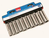 Hilka 10 pce Deep Metric Sockets - 3/8""